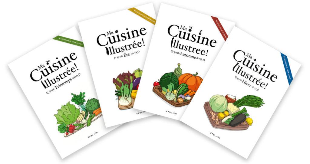 livres de cuisine illustrée