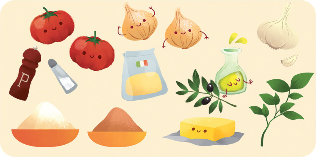 ingredients crumble tomates